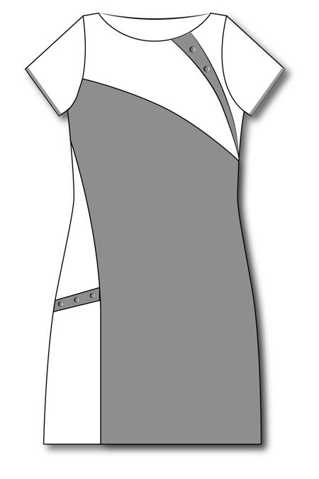 Туника с коротким рукавом типа