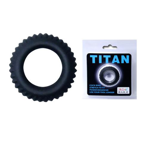 Эрекционное кольцо на член TITAN с ребрышками