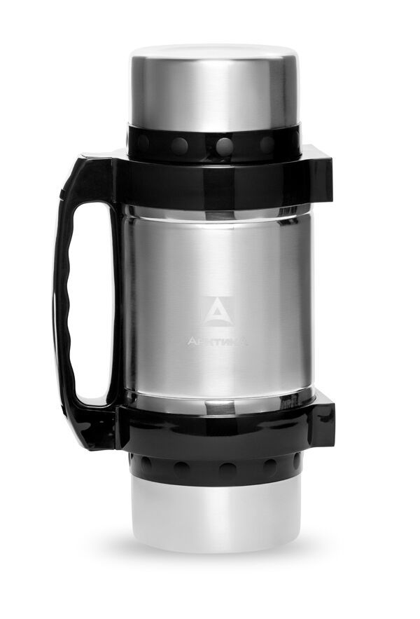 Термос универсальный (для еды и напитков) Арктика (2 литра) с супер-широким горлом, стальной