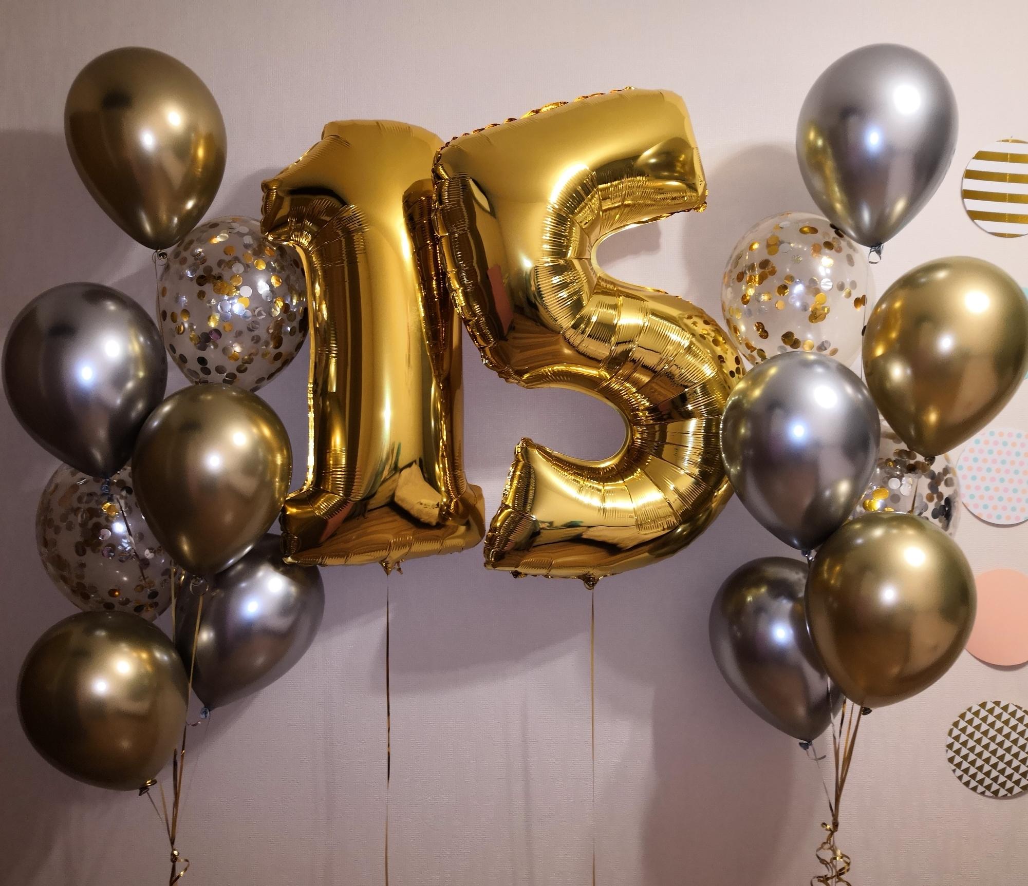 Шарики цифры на день рождения картинки