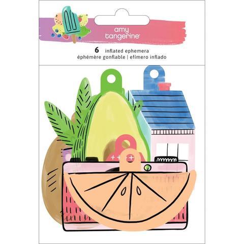 Высечки объемные двусторонние  -Amy Tan Stay Sweet от American Crafts-6шт