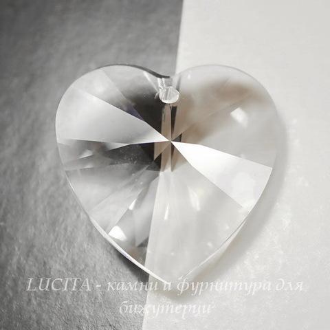 6228 Подвеска Сваровски Сердечко Crystal (14,4х14 мм) ()