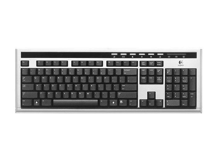LOGITECH UltraX Premium Keyboard Black-Silver USB