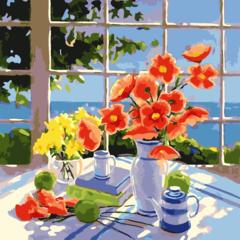 Завтрак на веранде- раскраски  по номерам