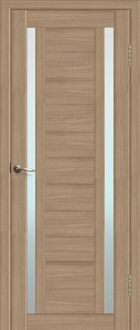 Дверь La Stella 203, стекло матовое, цвет тиковое дерево, остекленная