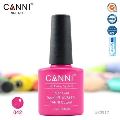 Гель лак Canni № 042 ( малиновый )