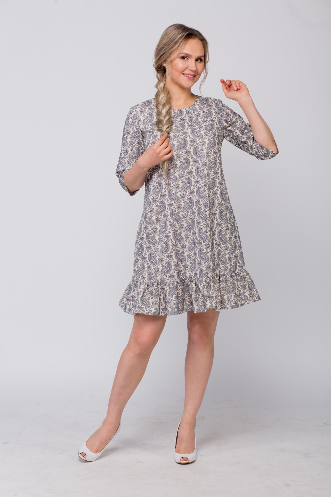 Платье льняное Огурцы от Иванки