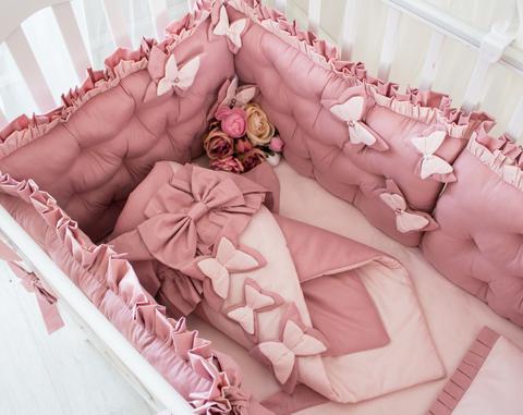Комплект в кроватку Butterfly, на 4 стороны кроватки
