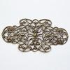 Винтажный декоративный элемент - филигрань 54х27 мм (оксид латуни)