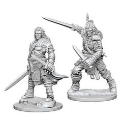 Pathfinder Deep Cuts Unpainted Miniatures - Human Male Fighter
