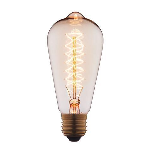 Лампа накаливания E27 60W колба прозрачная 6460-CT
