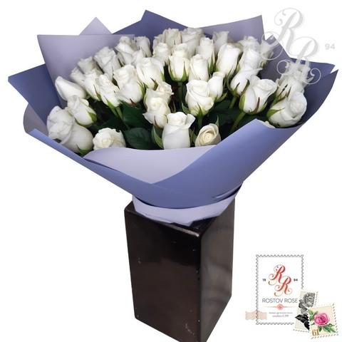 Букет 51 местная белая роза