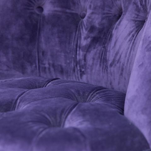 Пуф Eichholtz Камден фиолетовый бархат