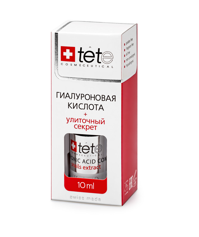 МИНИ Гиалуроновая кислота, улиточный секрет / TETe MINI Hyaluronic Acid + Snail Extract 10 ml