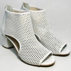 Женские ботинки босоножки на каблуке Magnolya 3503 56-3 SummerWhite