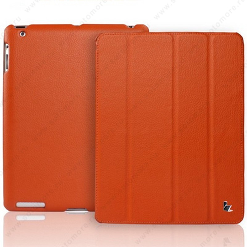 Чехол-книжка Jisoncase для Apple iPad 4/ 3/ 2 JS-IPD-07I с логотипом оранжевый SLE
