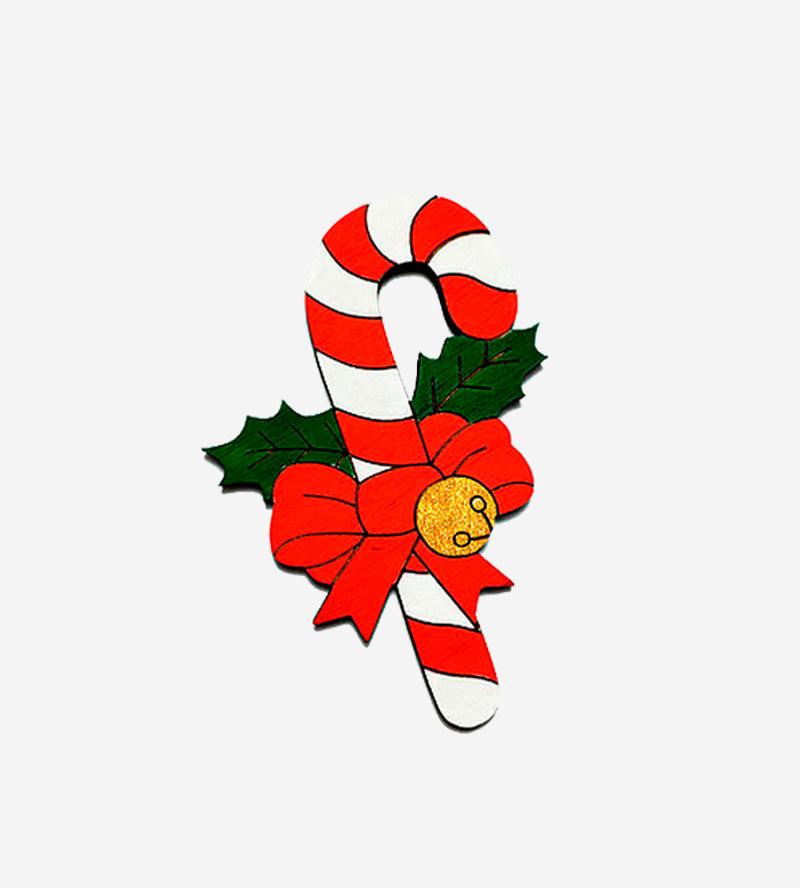 Брошь Рождественский леденец