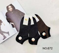 Носки женские с люрексом ( 10 пар ) арт.672