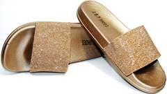 Шлепки летние J.B.P. Shoes NU25 Gold.