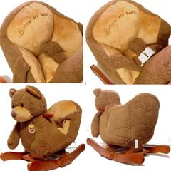Rock My Baby Качалка меховая Медведь (JR2522H)