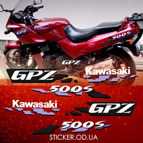 Набор виниловых наклеек на мотоцикл Kawasaki GPZ 500S 1994 - 1995