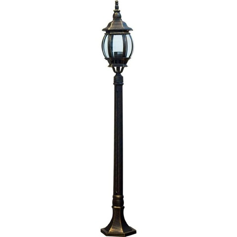 Светильник садово-парковый, 100W 230V E27 черное золото, 8110 (Feron)