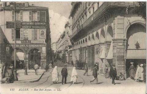 Alger. - Rue Bab-Azoun. - L.L.
