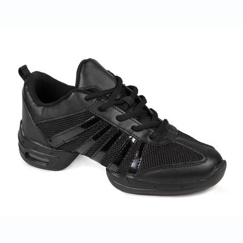 Кроссовки для танцев с лаковыми полосками арт.SN01b