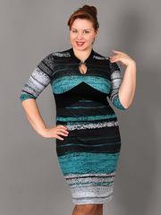 60212-1 платье черно-зеленое