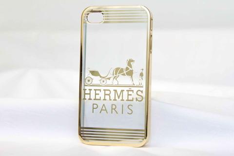 Чехол прозрачный Brands для Iphone 4, 4s (Hermes)