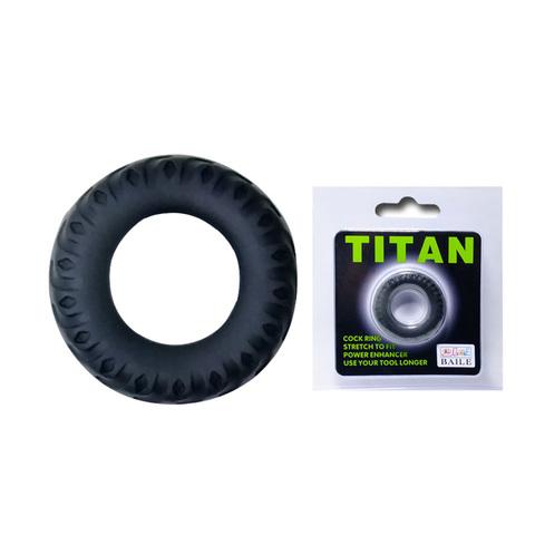 Эрекционное кольцо на член TITAN имитация автомобильной шины