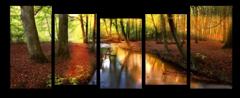 """Модульная картина """"Река в лесу"""""""