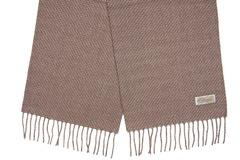 Шерстяной шарф, мужской светло-коричневый 30331