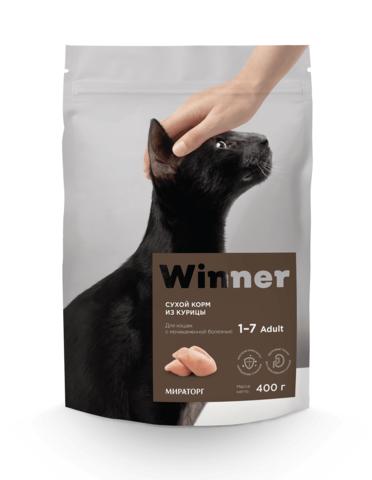 Сухой корм Winner Мираторг для кошек с мочекаменной болезнью