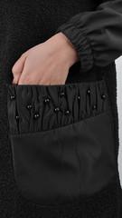 Жанин. Пальто для осени большого размера. Черный.