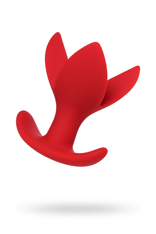 Расширяющая анальная втулка ToDo by Toyfa Flower, силикон, красная, 9 см, Ø 6 см фото