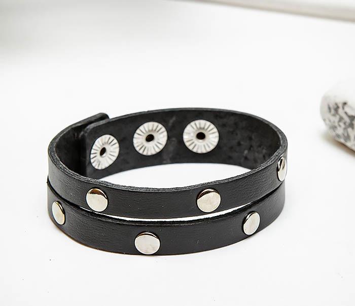 BL794-1 Мужской кожаный браслет с заклепками фото 03