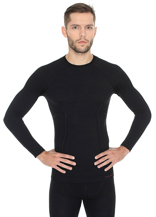 Мужская терморубашка Brubeck Active Wool (LS12820) черная
