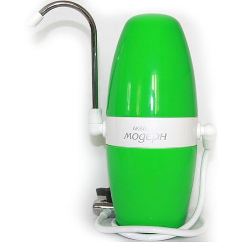 Водоочиститель многоступенчатый Аквафор Модерн (исп.2), зеленый, арт.И5334