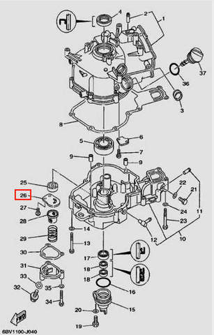 Крышка ротора для лодочного мотора F5 Sea-PRO(4-26)