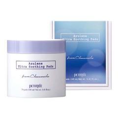 Petitfee Azulene Ultra Soothing Pads - Успокаивающие пэды для лица с азуленом