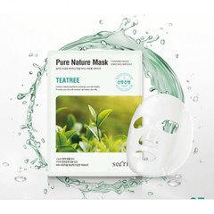 Маска для лица тканевая ANSKIN Secriss Pure Nature Mask Pack-Teatree 25 мл