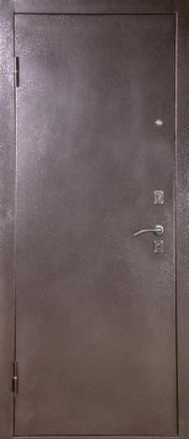 Дверь входная S-4 стальная, венге, 1 замок, фабрика Арсенал