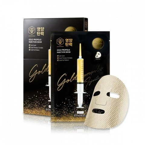 Banobagi Gold Propolis Injection Mask Восстанавливающая маска с золотом и прополисом