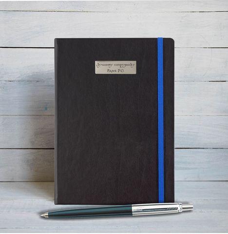 Набор с гравировкой: Блокнот и Шариковая ручка Parker Jotter Black CT