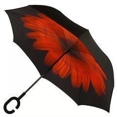 Зонт наоборот Цветок красный
