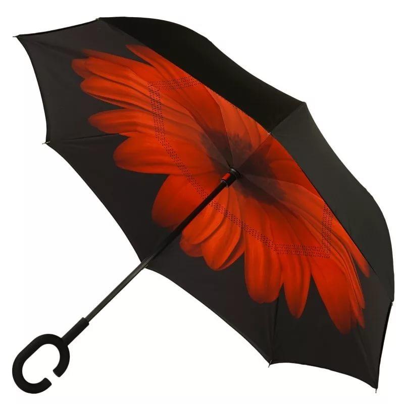 Часы/Рюкзаки/Зонты Зонт наоборот Цветок красный zont-krasnii2.jpg