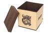 Коробка для вещей  30х30х30 см, с крышкой, Шоколадный Париж