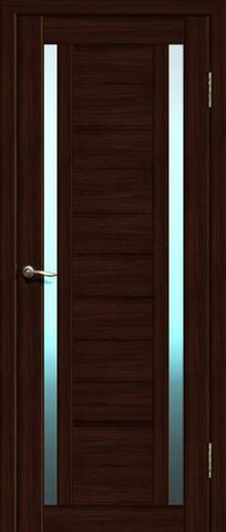 Дверь La Stella 203, стекло матовое, цвет дуб мокко, остекленная