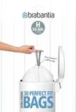 Пакет пластиковый 50/60л 30шт, артикул 375705, производитель - Brabantia